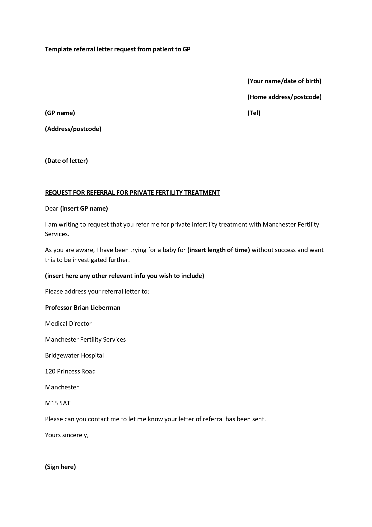 28+ [ Referral Letter Template Doctor ] | medical template ...