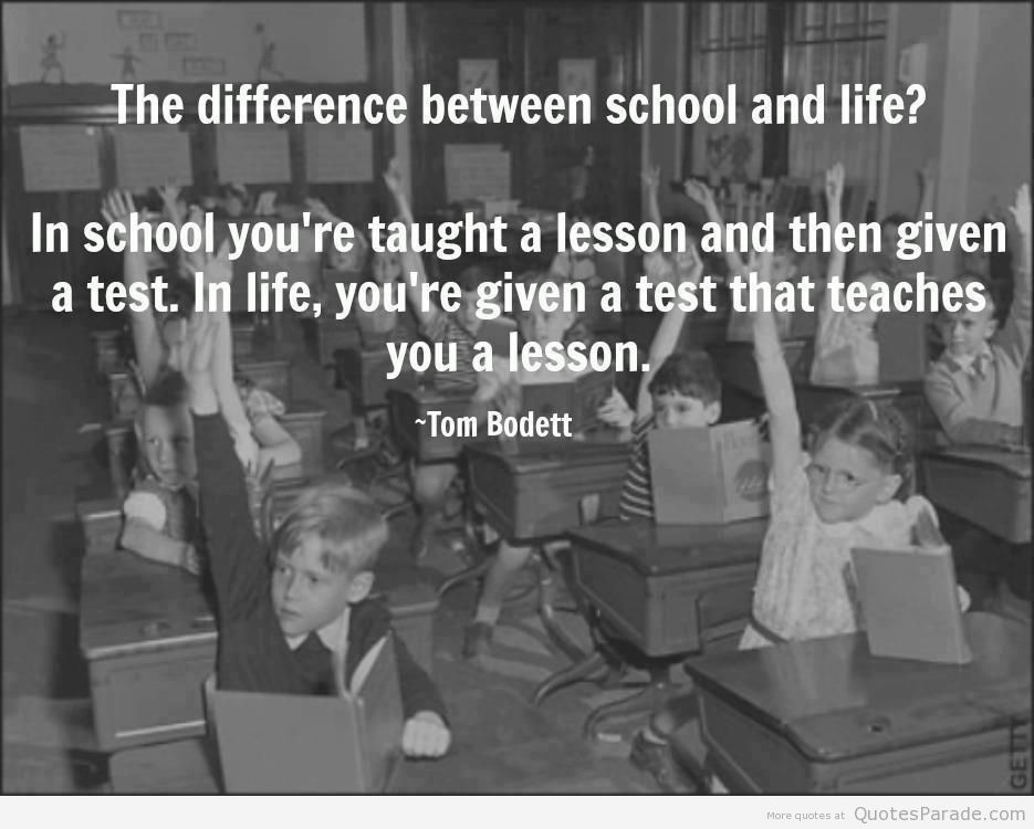 the role of exams in the school life Lots of people will tell you this, because it's true - exams aren't everything  whatever happens in your exams, you can still be successful in life afterwards.