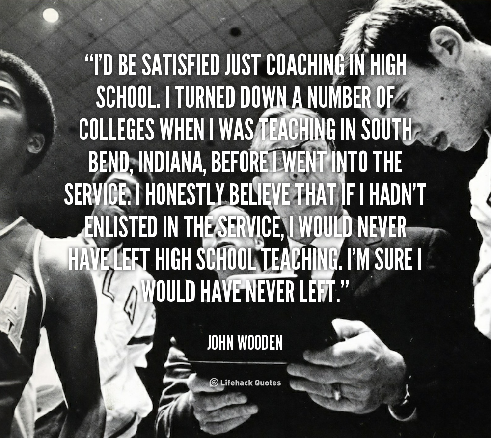Motivational Quotes For Sports Teams: John Wooden Basketball Quotes. QuotesGram