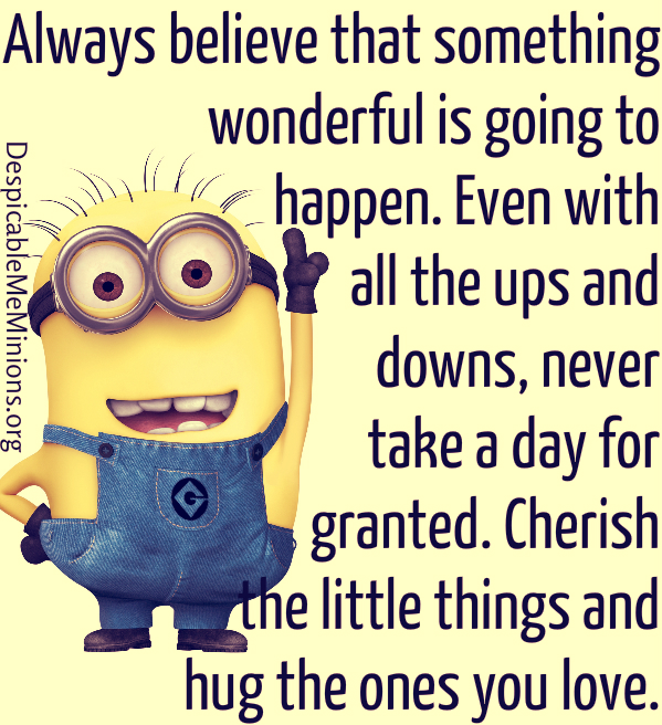 Minion Quotes Inspirational: Despicable Me Inspirational Quotes. QuotesGram
