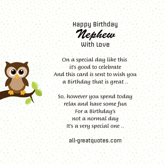 Nephew Poems And Quotes. QuotesGram