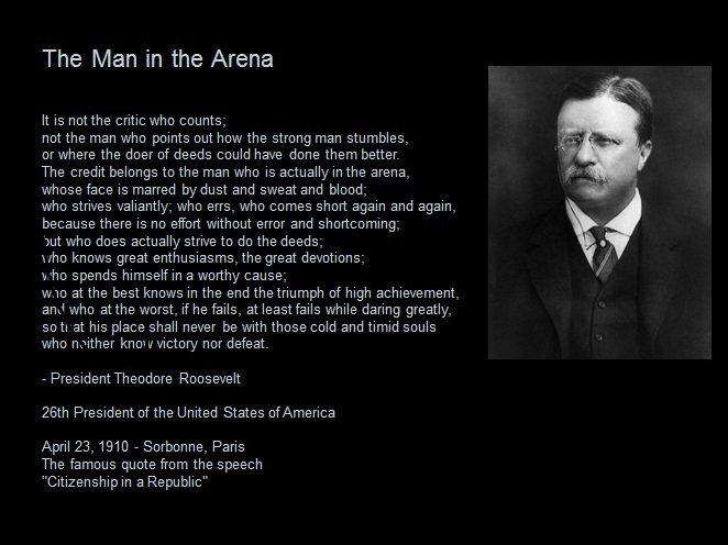 Theodore Roosevelt Quotes: Man In The Arena Theodore Roosevelt Quotes. QuotesGram