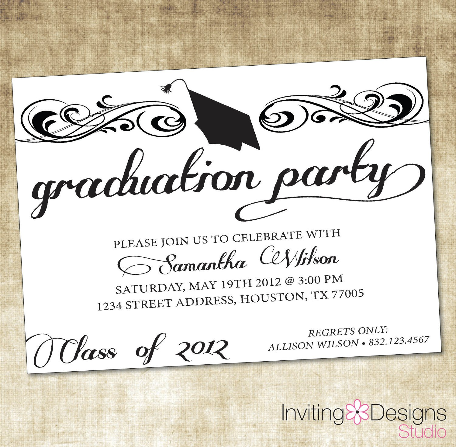 Graduation Party Invitation Quotes. QuotesGram With Free Graduation Invitation Templates For Word
