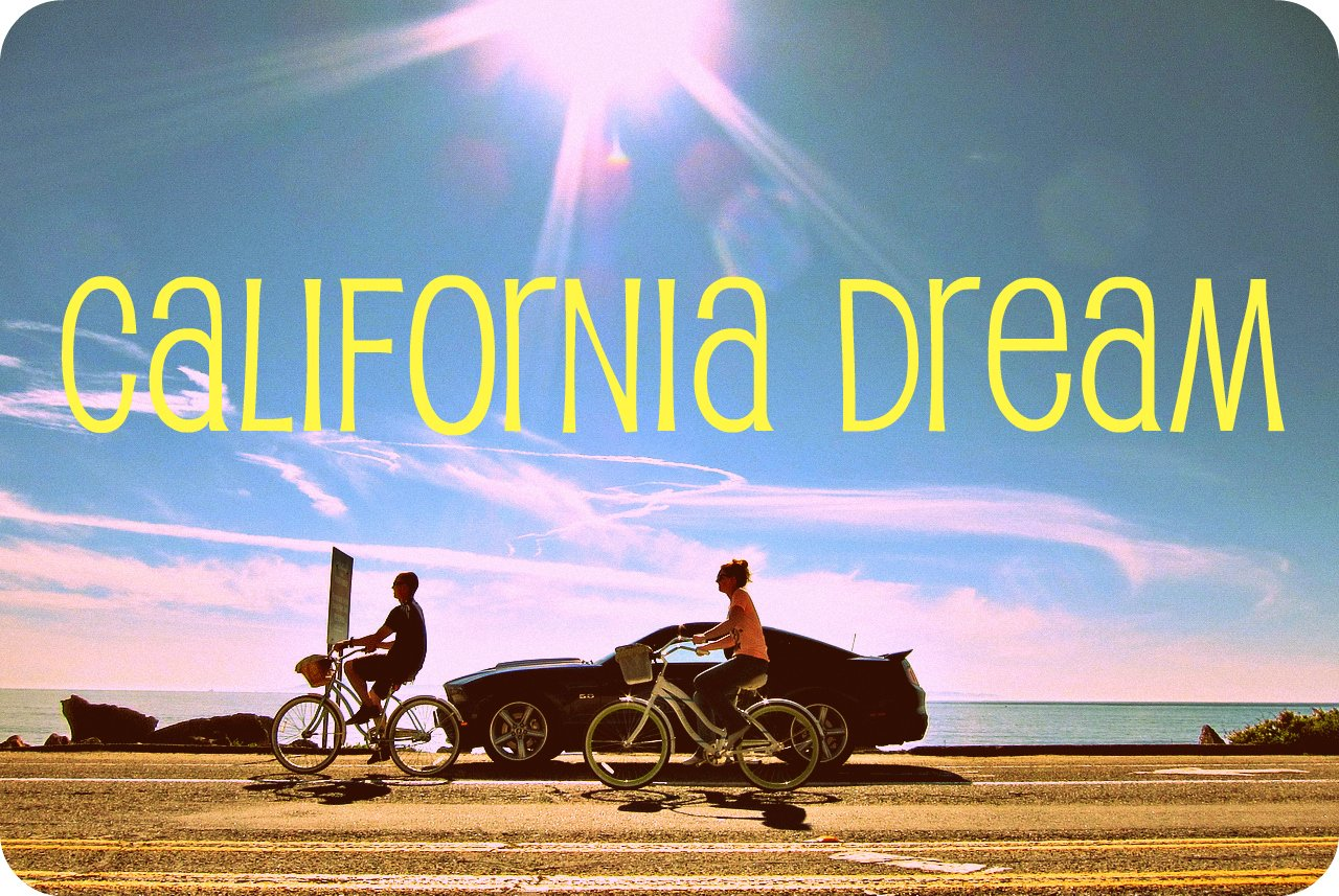 california dreaming Iis often reffered to as a laid back fairytale- like mentality it usually means that one is hoping for something that is not going to happen it is a state of denial.