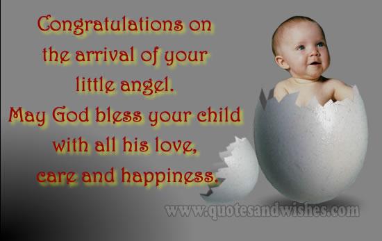 Congratulations to birth of baby
