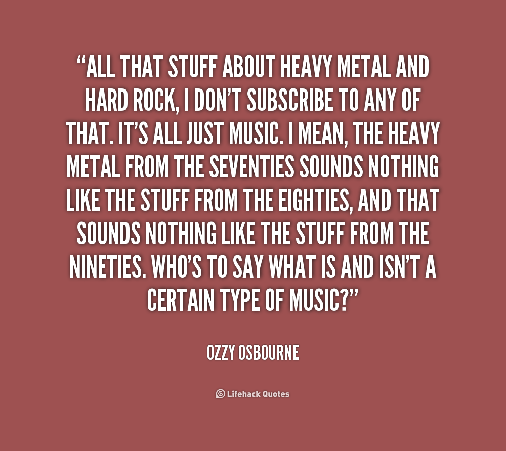 Quotes And Sayings: Heavy Metal Quotes And Sayings. QuotesGram