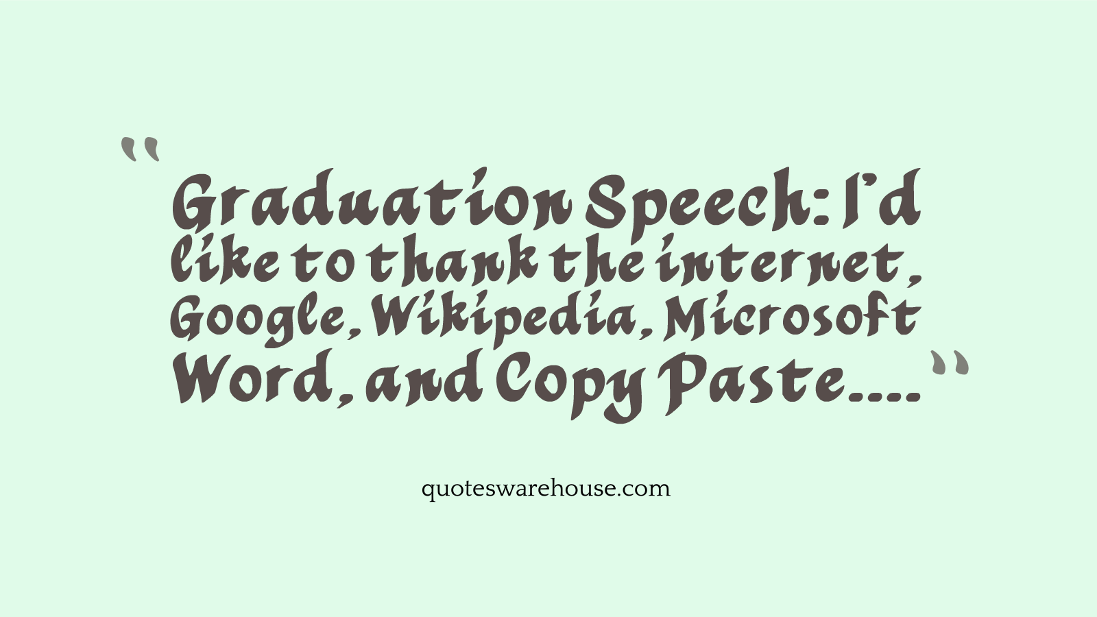 Funny Graduation Quotes. QuotesGram