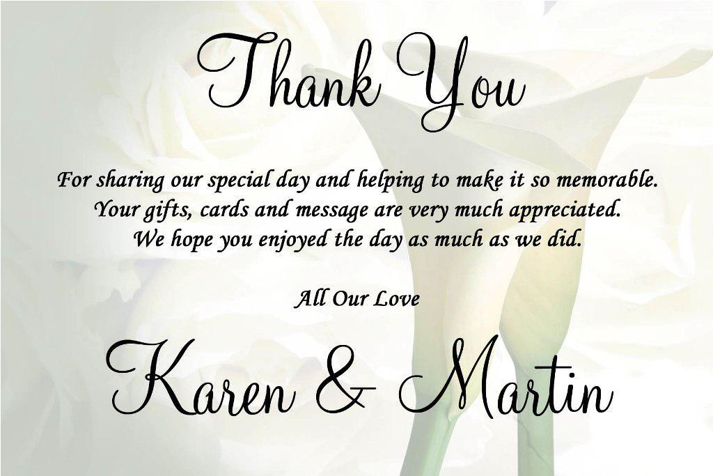 Thank You Card Wedding Gift: Wedding Thank You Quotes. QuotesGram