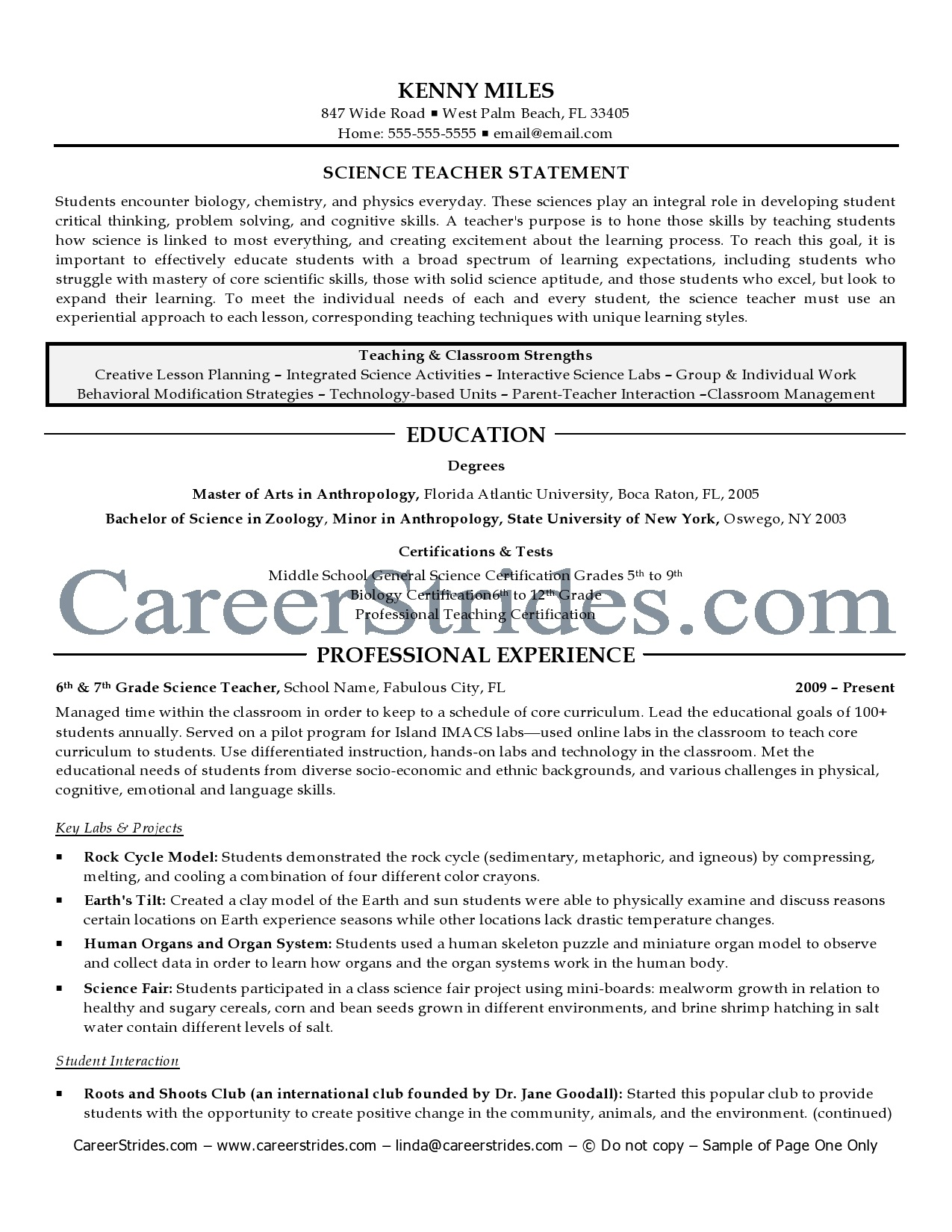 Teacher Resumes With Quotes QuotesGram