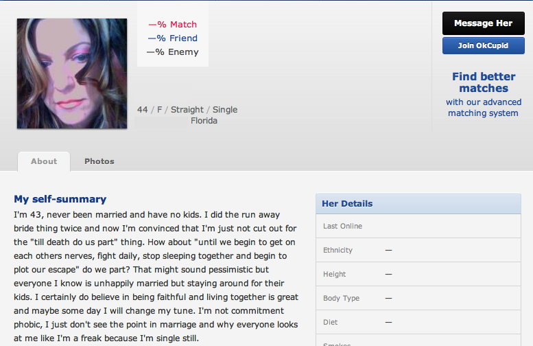What not to put in your okcupid online dating profile