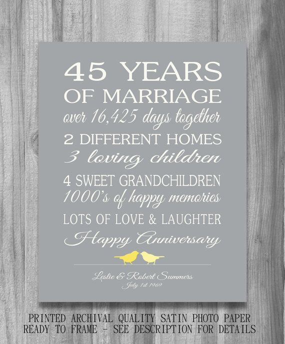 51 Wedding Anniversary Quotes: 45th Wedding Anniversary Quotes. QuotesGram