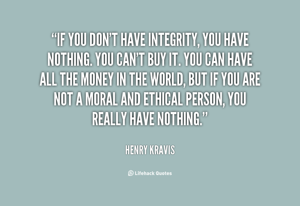 how to live your life with integrity