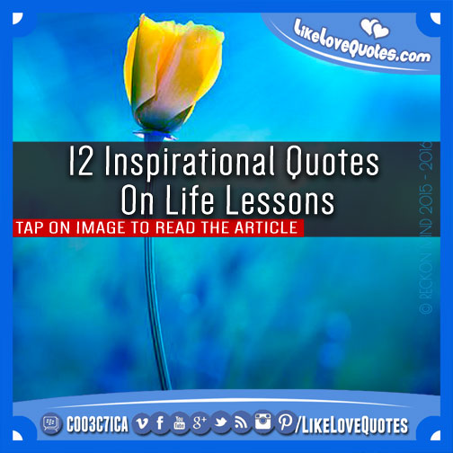 Spiritual Quotes About Life Lessons: Motivational Quotes For Life Lessons. QuotesGram
