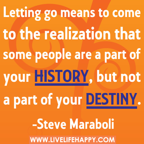 part managed letting go of a relationship