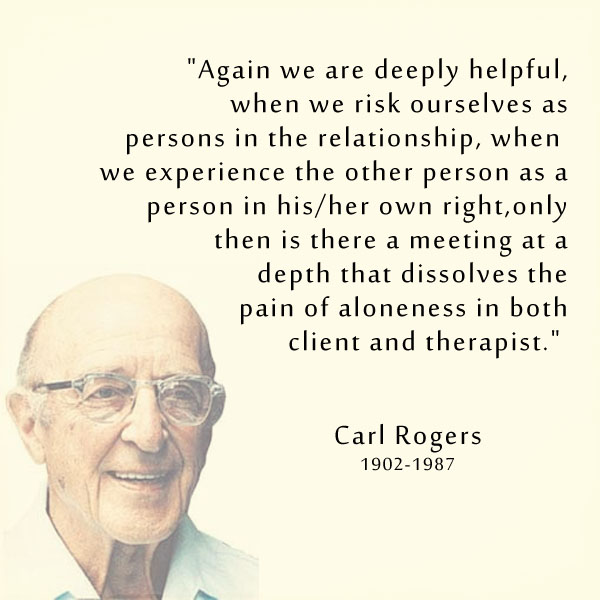 carl rogers theory and therapeutic relationship
