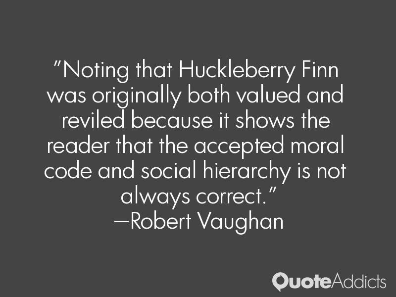 Essay on morality huck finn