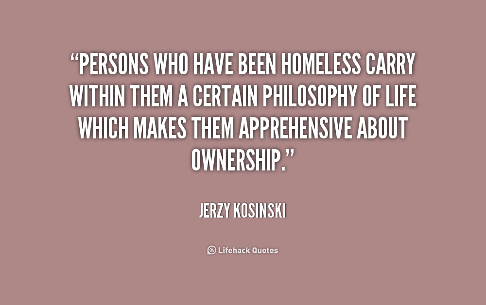 Famous Quotes About Homelessness Quotesgram