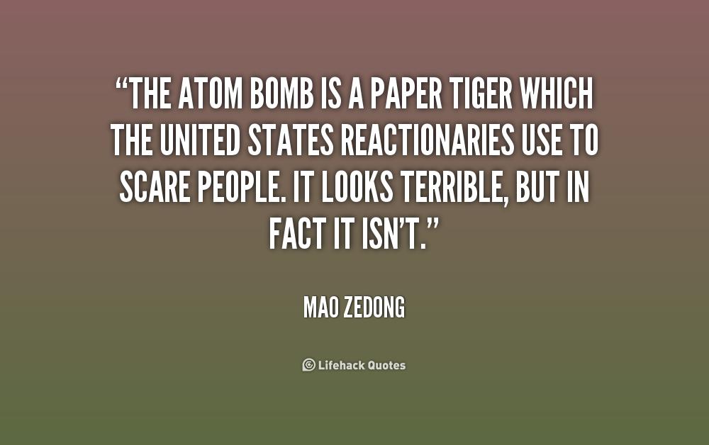 Atomic bombs quotes