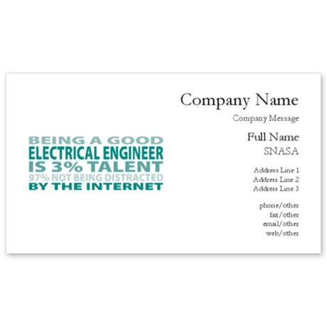Good quotes for business cards quotesgram for Electrical engineer business card