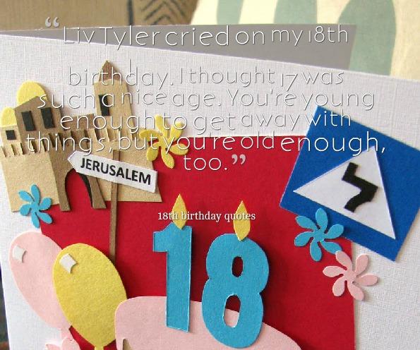 Happy 18th Birthday Inspirational Quotes. QuotesGram