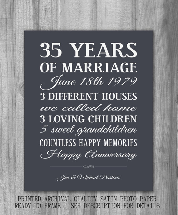 35 Year Wedding Anniversary Gifts: 35th Wedding Anniversary Quotes. QuotesGram