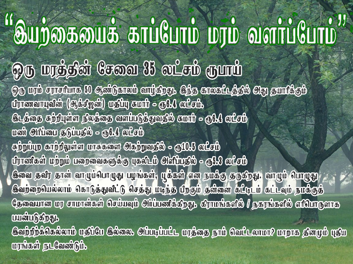 environment in tamil language The month of aani is related to jyeshtha which is believed to be alakshmi in mythology so most of the people who follow traditional calendars do not suggest house warming in the tamil month of aani.