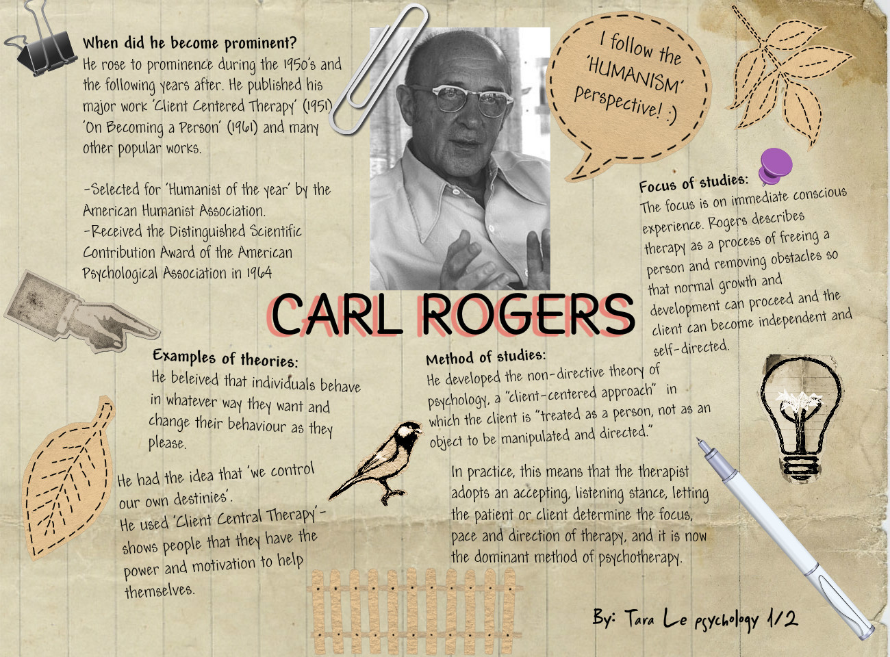 carl rogers and his theory of personality There are many theories for personality and various theorists have defined this in different ways one fairy comprehensive definition for personality carl roger's like many other psychologists formulated his own theory of personality engler (2003) observes how carl rogers was among the most.