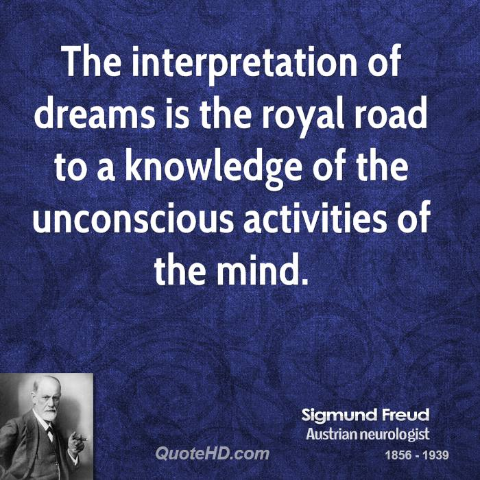 a description of the interpretation of dreams by freud