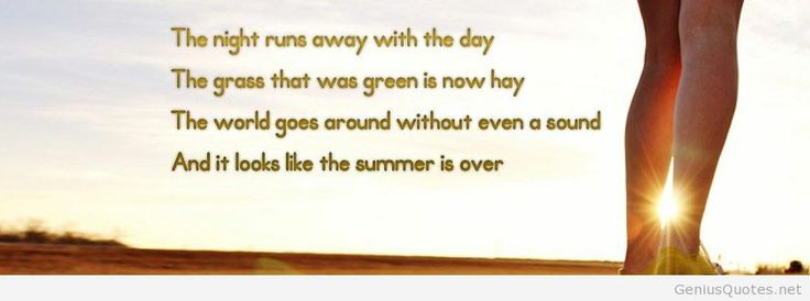 Summer Is Over Quotes. QuotesGram