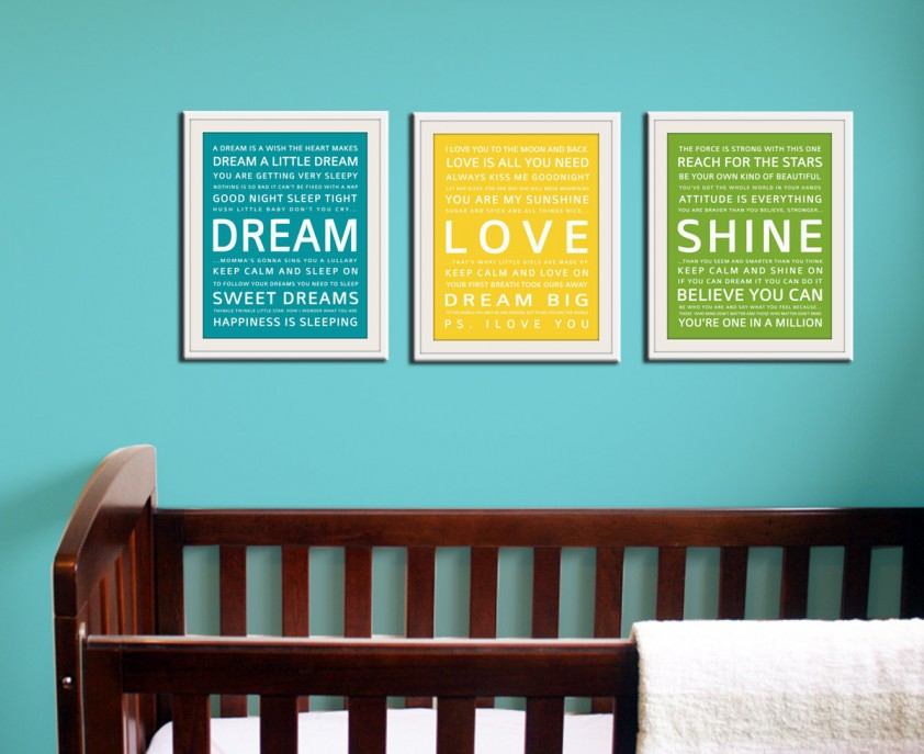 Nursery framed quotes quotesgram for Nursery wall art