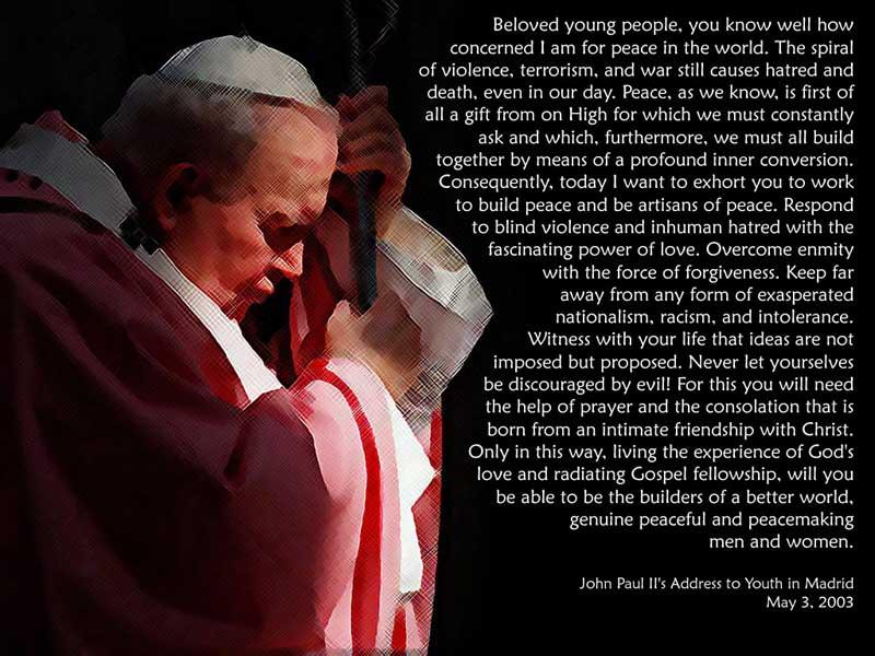 Pope John Paul Ii Quotes Youth: Pope John Paul II Quotes. QuotesGram