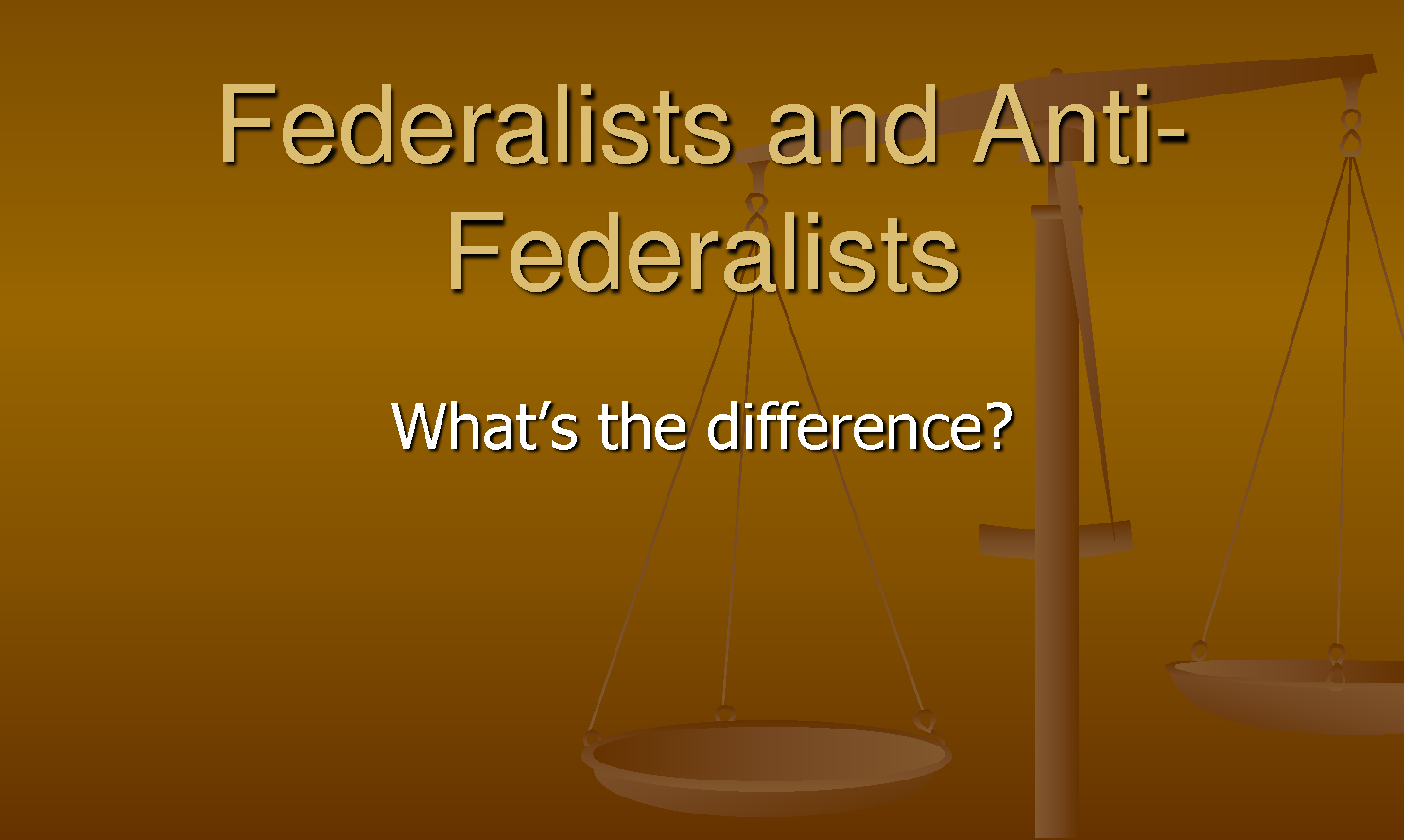 anti federalists Find out more about the history of federalist party, including videos, interesting articles, pictures, historical features and more get all the facts on historycom.