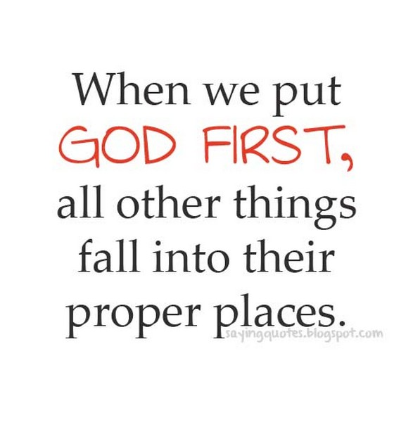Messed Up Life Quotes: God First Quotes. QuotesGram
