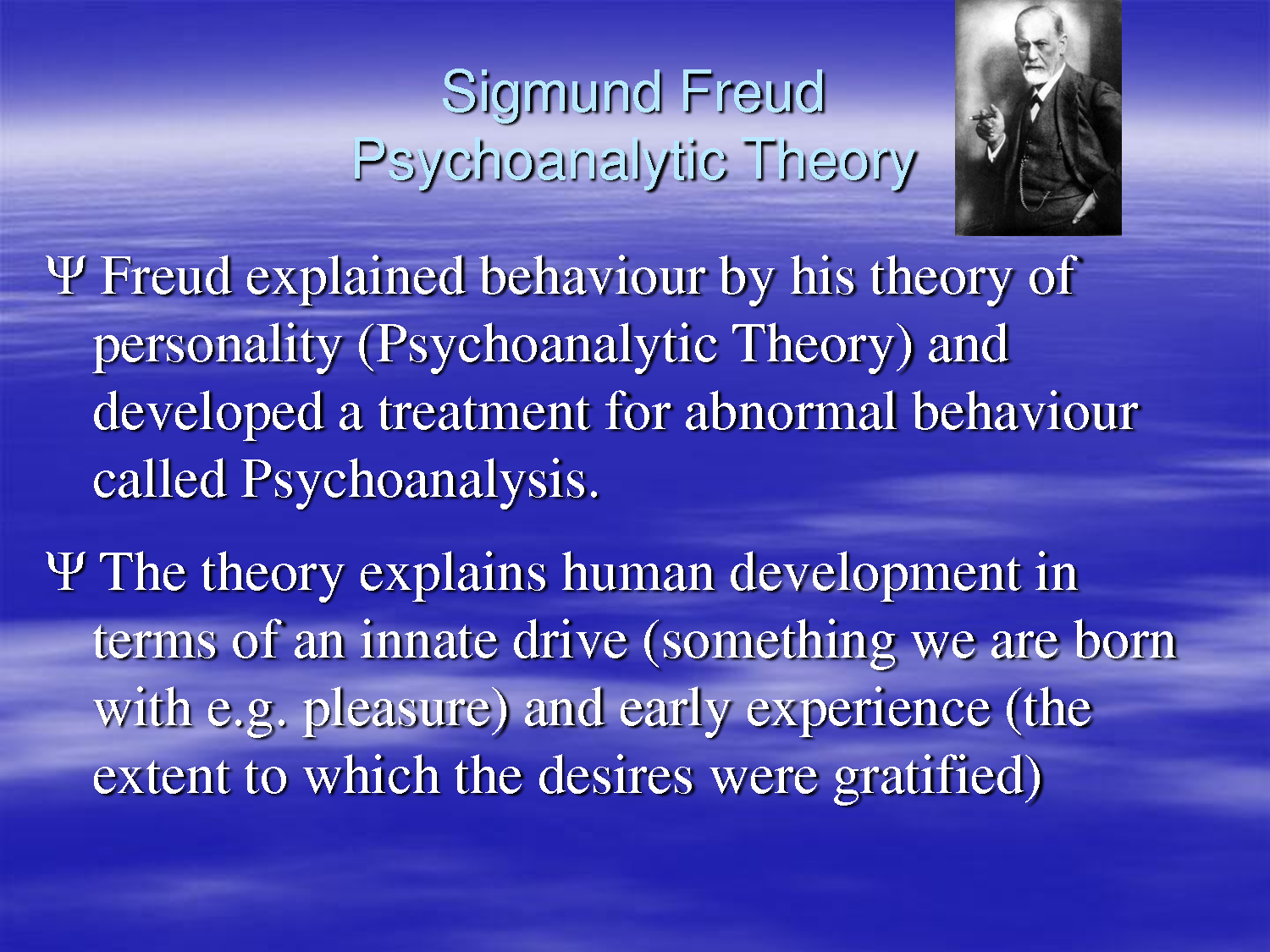an analysis of the sigmuand freuds psycholoanalytic theory