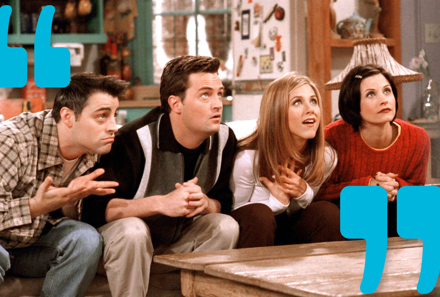 an analysis of the topic of the characters in the television show sitcom friends Characters jennifer aniston as mainly due to the similar title it shared with the abc sitcom these friends of mine on the 100th episode of the television.