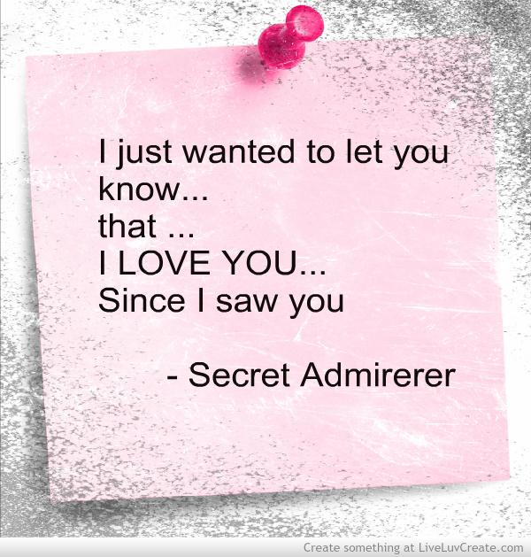 Secret Admirer Quotes For Her. QuotesGram