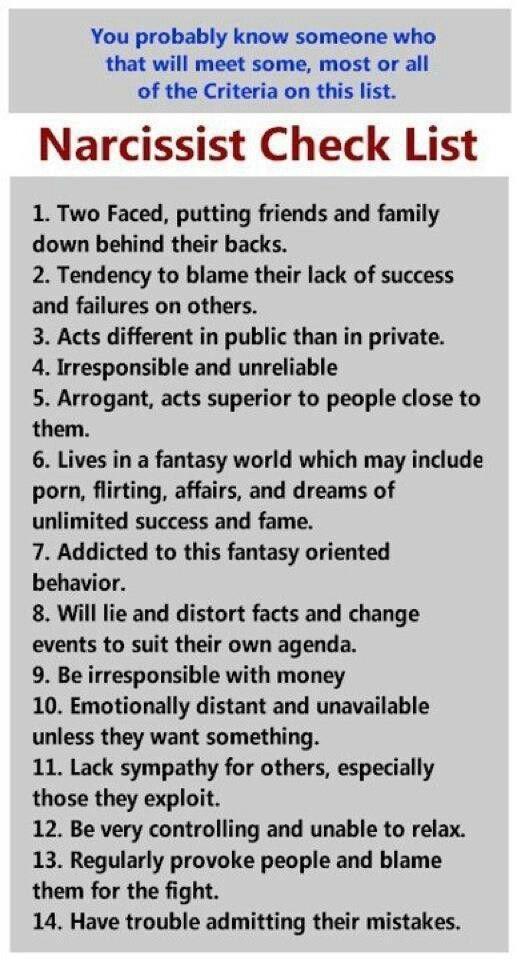 Relationship traits narcissistic 8 Signs