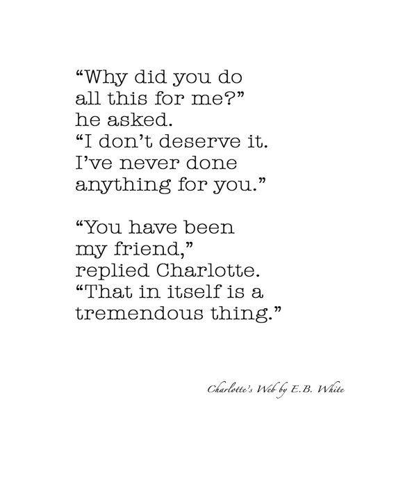 e b white friend quotes quotesgram