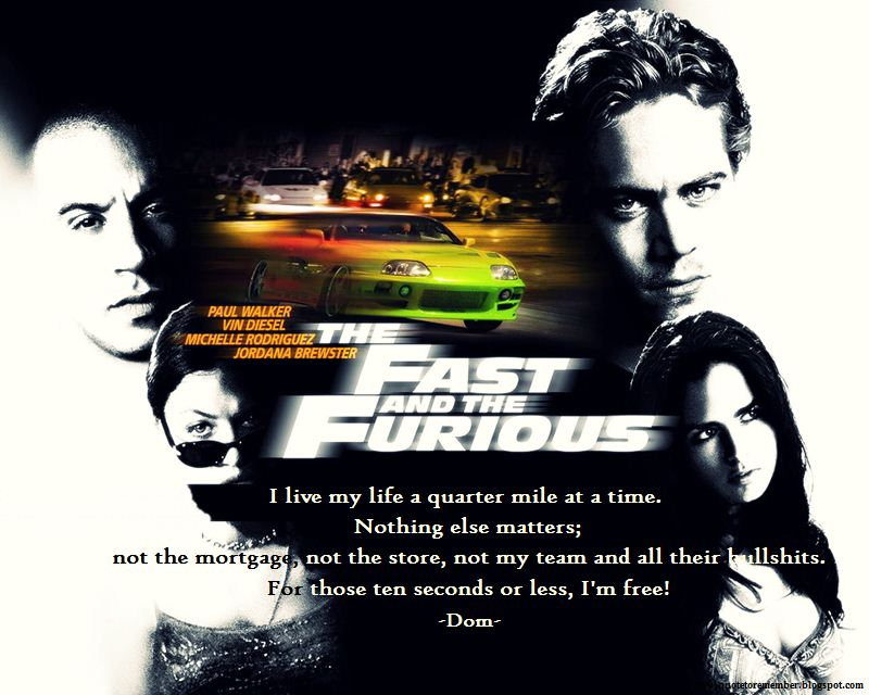 Fast and furious quotes about family quotesgram for Fast and furious tattoo