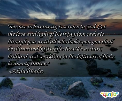 Essay on service to mankind