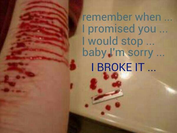 Depressing Quotes About Cutting: Cutting Quotes. QuotesGram