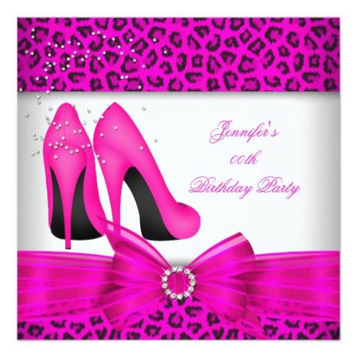 High Heel Shoe Invitations