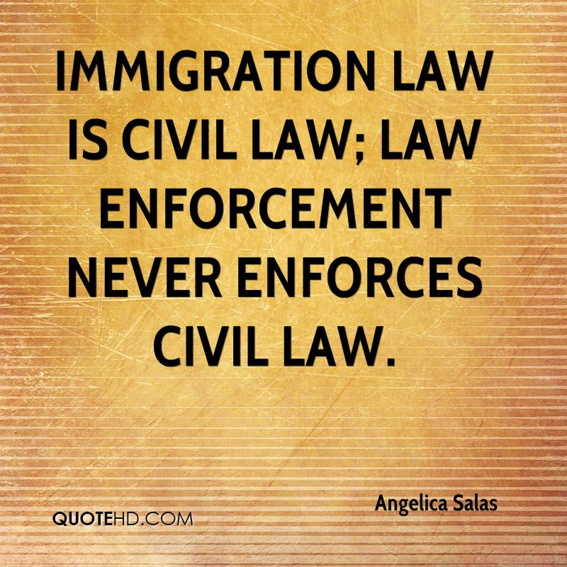 should law enforcement be allowed to enforce the law on immigration Donald trump wants local police to enforce immigration laws here's why they don't  a great many law enforcement agencies — including those covering large immigrant populations — have.