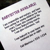 babysitting ad examples - thelongwayup.info
