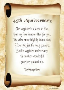 45th Wedding Anniversary Quotes Quotesgram