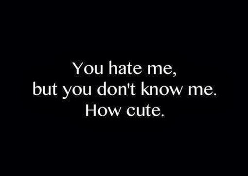 I Hate You Quotes And Sayings: Why You Hate Me Quotes. QuotesGram