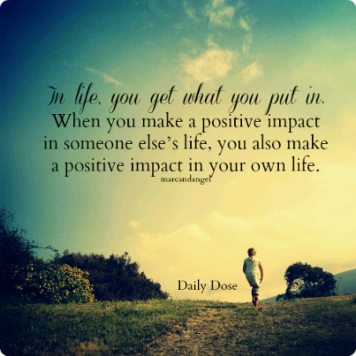 Love Helping Others Quotes: Making A Positive Impact Quotes. QuotesGram