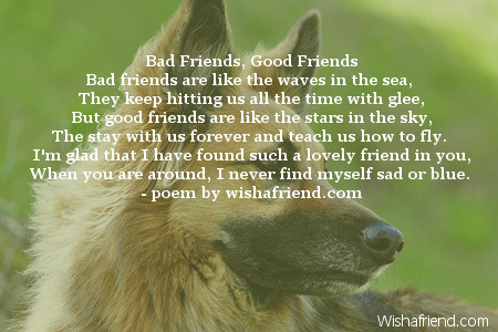 good and bad friends essay