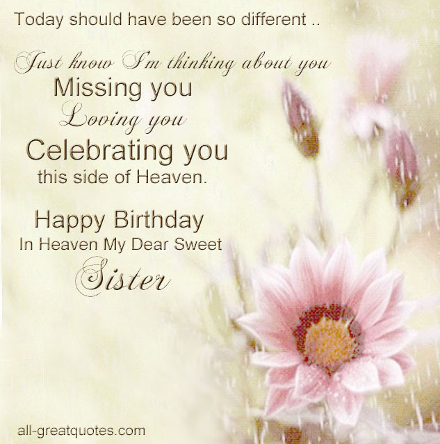 Happy Birthday In Heaven Quotes For Facebook. QuotesGram