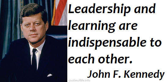 the leadership styles of john f kennedy John f kennedy adapts his style basic on the situation he is put in, depending on the environment he's in and the level of the task to be effective for example, if he is explaining mission directions, it will be a telling style.
